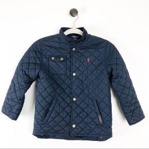 Polo Ralph Lauren Quilted Boys Jacket Coat Blue 7